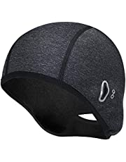 Winter Thermal Beanie Hat Men Women Helmet Liner with Glasses Holes Running Cycling Skull Hat Fits Under (for Women)