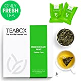 Teabox Moroccan Mint Green Tea 1.4 Oz, 16 Teapac Teabags | Low...