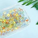 ShellKingdom 200 PCS Clear Mixed Colors Glass