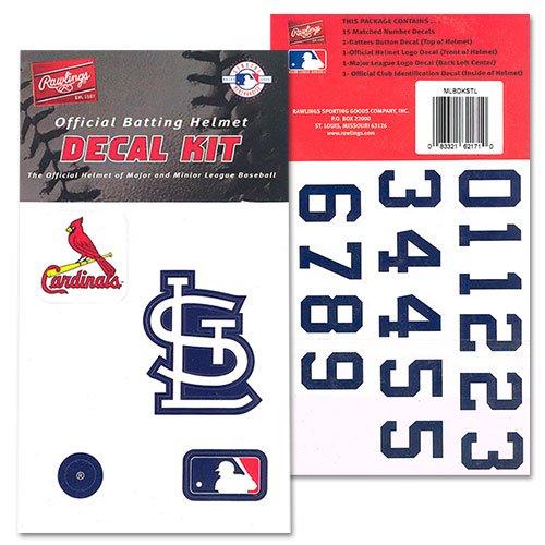 - St Louis Cardinals Official Batting Helmet Decal Kit