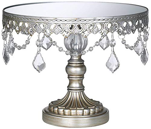 Antique Silver Beaded Small Cake Stand (Cake Jeweled Stand)