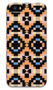Simply Case Designs Mix Orange Pattern Design PC Material Hard Case For iphone 5/5s