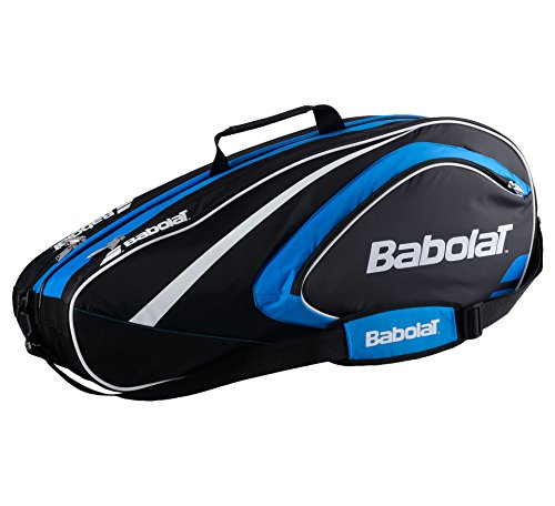 BABOLAT Club Line 6 Racquet Bag, Black/Blue