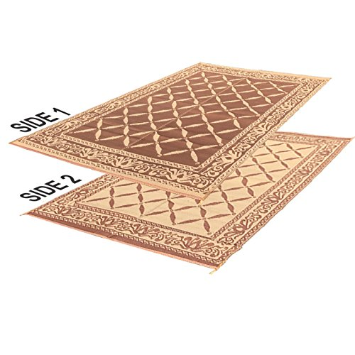 RV Camping Mats – 9'x 18' Large Outdoor Patio Mat – Reversible RV Mat – Floor Mat