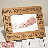 Personalized Birth Announcement Picture Frame with