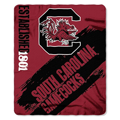 The Northwest Company Officially Licensed NCAA South Carolina Gamecocks Painted Printed Fleece Throw Blanket, 50