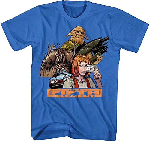 Fifth Element Movie Group Adult Graphic Tee Shirt (Medium) (Leeloo 5th Element)