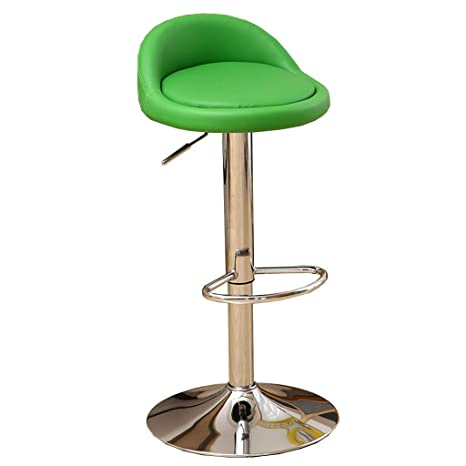 new style 7bb98 c84d6 PU Leather Bar Stool Metal Swivel Chair Bar Stool Green ...