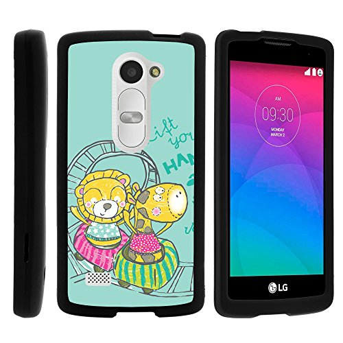 (MINITURTLE Case Compatible w/ LG Sunset Case, Perfect Fit Cell Phone Case Hard Cover w/ Cute Design Patterns for LG Leon C40, Tribute 2, Power L22C, Destiny Sunset Zoo Animal Friends)