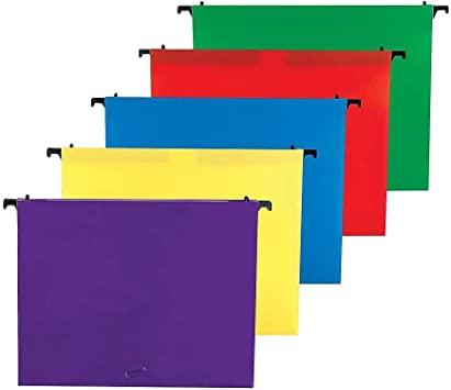 Hanging Legal Size File Folders 5 sets of 4 Expanding Plastic Office 3/""