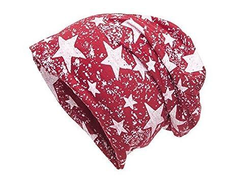 shenky - Berretto da donna in tanti colori e motivi - rosso stella - misura  unica 0caaadfc2d49