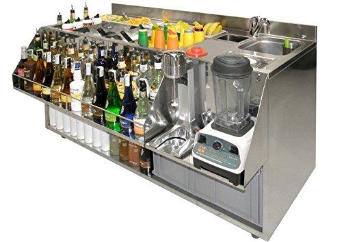 Station barman banco barman lavoro cocktail station inox: amazon ...