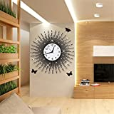 Modern Large Wall Clock, Non Ticking Digital Quiet Sweep Decorative Clocks, Creative quartz clock