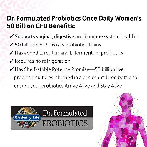 Garden Of Life Dr Formulated Once Daily Women S Probiotics 50 Billion Cfu 30 Shelf Stable
