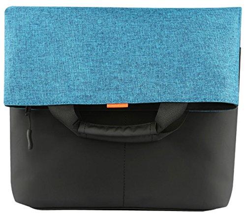 Bag Fashion Convertible Messenger Shoulder Bag Crossbody Handbag School Travel Work Tote, fits up to 15 inch Laptop Ultrabook Notebook MacBook Chromebook -Black/Blue ()