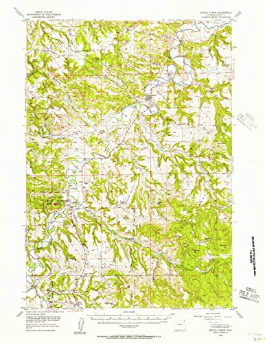 - YellowMaps Devils Tower WY topo map, 1:62500 Scale, 15 X 15 Minute, Historical, 1955, Updated 1957, 20.9 x 16.1 in - Tyvek
