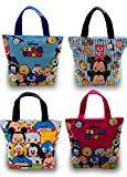 Finex Set of 2 Tsum Tsum Canvas Zippered Tote with Carry Handles - Lunch Box Bag Gym Tote (Random Color)