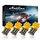 Antline 3157 3156 3057 4157 3056 LED Bulbs Amber Yellow, 12-24V Super Bright