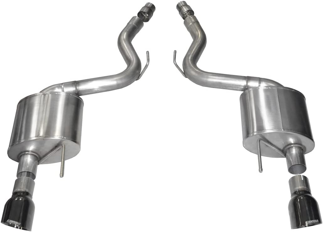 Corsa 14332BLK Cat Back Exhaust with Black Tip Ford Mustang GT