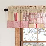 Piper Classics Mill Creek Red Patchwork Valance, 16″ x 72″, Country Farmhouse Curtain Review
