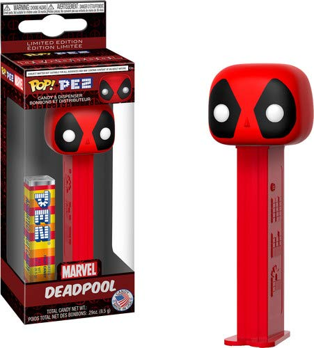Funko 32624  Pop! Pez: MarvelDeadpool, Multicolor