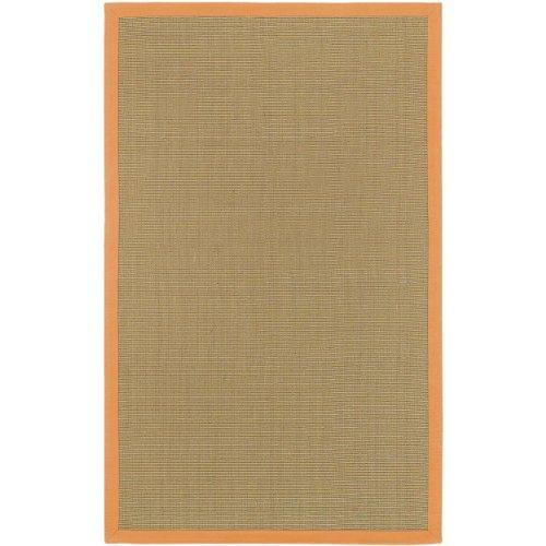 Surya SOHOORANGE Soho Natural Fibers Hand Woven 100% Jute Orange Bordered Rug (2-Feet x 3-Feet ) (Jute Soho Surya)