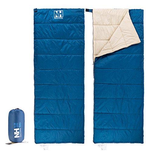 Naturehike春夏Sleepingバッグ超軽量寝袋封筒型寝袋分割Jointed Sleepingバッグnh15 a150-d B01L88UW0A  ブルー