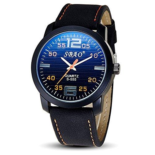 Genießen Armbanduhren Automatik Chronograph Wasserdicht Sportuhren für Sommer Urlaub Strand Sport Leuchtzeiger Uhr Einfach Orange