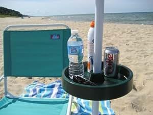 UPSHELF 10463GR Detachable Umbrella Pole Shelf, Green