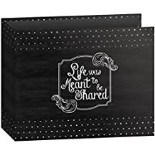 Pioneer Photo Albums T-12CHLK/SH 3-Ring Printed Chalkboard Design Binder Shared Scrapbook, 12 by 12-Inch
