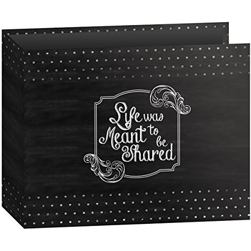 T-12CHLK/SH 3-Ring Printed Chalkboard Design Binder Shared Scrapbook, 12 by 12-Inch (12 X 12 Scrapbook Prints)