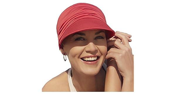 Gorra oncológica ultra transpirante Bella con visera y Technology 37.5® color rojo para mujeres en tratamiento con quimioterapia: Amazon.es: Deportes y aire ...