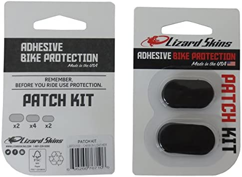 Lizard Skins Bike Frame Protection Patch Kit Carbon Leather Adhesive