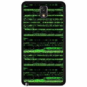 Matrix Number - Plastic Phone Case Back Cover (Samsung Galaxy Note III 3 N9002)