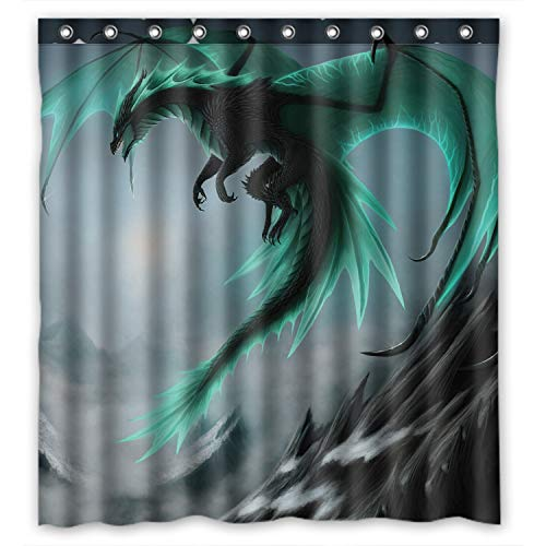 ZHANZZK Flying Dragon Pattern Waterproof Bathroom Shower Curtain 66x72 Inches
