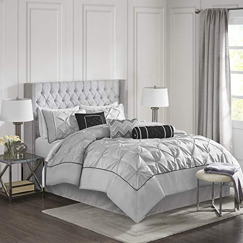 Piedmont Ruched Comforter Set (Full) Gray - 7pc