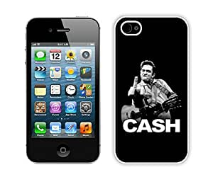 Beautiful And Unique Designed Case For iPhone 4 With Johnny Cash (2) Phone Case