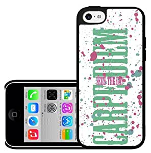 Carpe Diem Seize the Day Pink and Green Hard Snap on Phone Case (iPhone 5c)