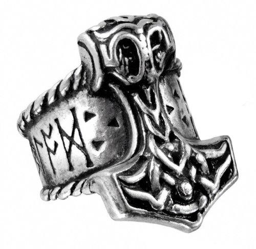 Thor's Runehammer Mens Alchemy Gothic Ring - size 10