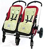 Itzy Ritzy SL8024 Stroller Liner (Avocado Damask)