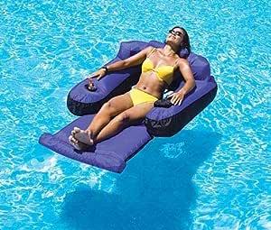 لعبة أريكة عائمة على شكل حمام سباحة مغطاة بنسيج فائق الجودة