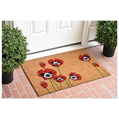 """Calloway Mills 104032436 Red Poppies Doormat, 24"""" x 36"""" Multicolor"""