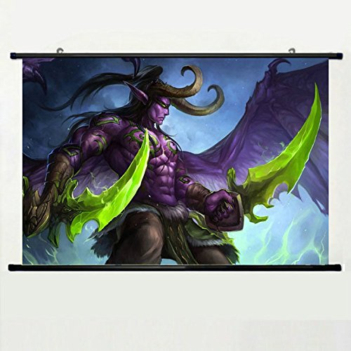 Wall Scroll Poster with World Of Warcraft Illidan Stormrage