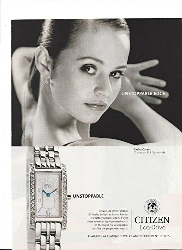 **PRINT AD** With Sasha Cohen For Citizen Eco-Drive Palidoro Watches **PRINT AD**
