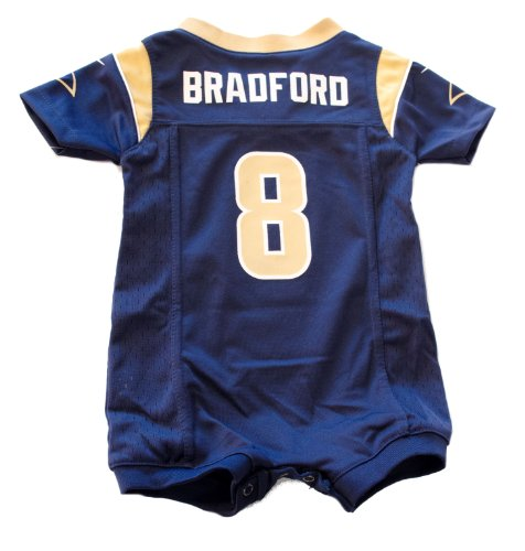St. Louis Rams Licensed Infant Sam Bradford Jersey Onesie Short Outfit (6 9  Months) - Buy Online in Oman.  7a91da75f