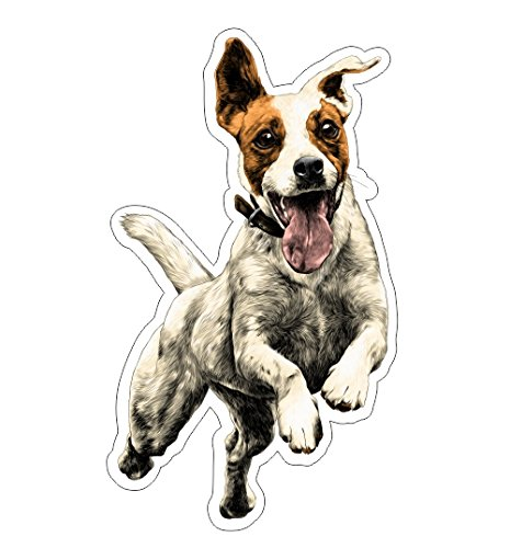 - JS Artworks Jumping Jack Russell Vinyl Bumper Sticker Decal Dog Family Pet Love