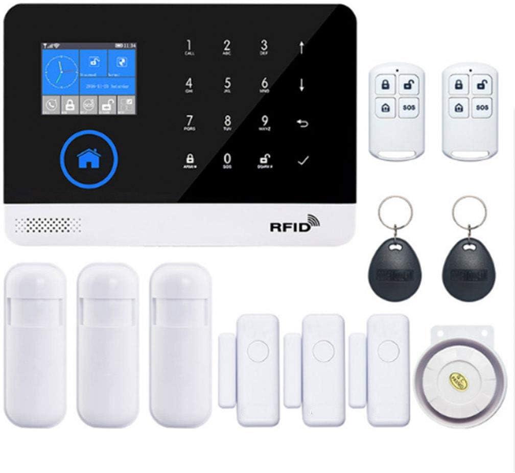 Kalttoy Home Security - Sistema de alarma inalámbrico WiFi GSM 3G y GPRS, kit de tarjeta RFID con control remoto de aplicación