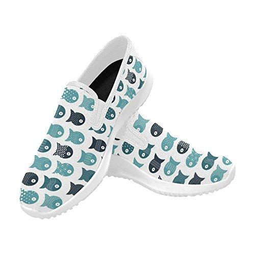 Modello Fish Con Impronta Digitale Womens Slip-on Mocassini Scarpe Di Tela Sneakers Multi Moda 1