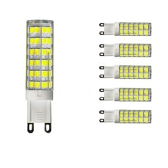 UNIQUEJASON - Bombilla LED G9 (75 W, 85 W, 100 W, equivalentes a bombillas halógenas, 840 lm, ...