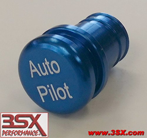 AUTO PILOT BUTTONBLUE 12-volt Accessory / Lighter Insert Auto Pilot Button (non-functional) Fits Most Vehicles